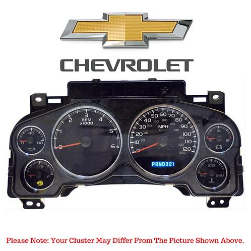 2007-12 Chevrolet® Cluster Displays Repair Service