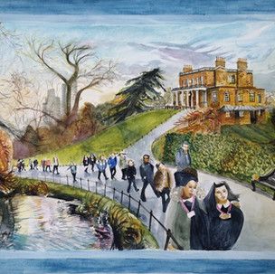 First Day Back, Walking through Clissold Park