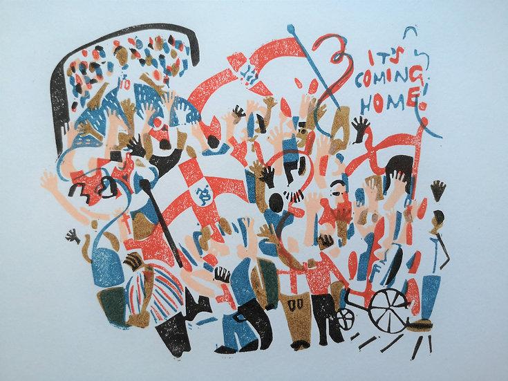 'It's Coming Home' Euro 2020 Commemorative Print