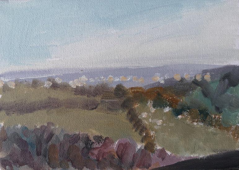 Dusk at Lydeard Hill
