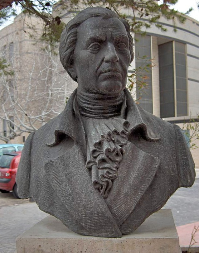 Bust of Francisco Javier Balmis in the Faculty of Medicine of the UMH in San Juan de Alicante