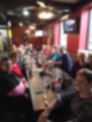 Temple Baptist Ladies enjoying breakfast at Asiel's