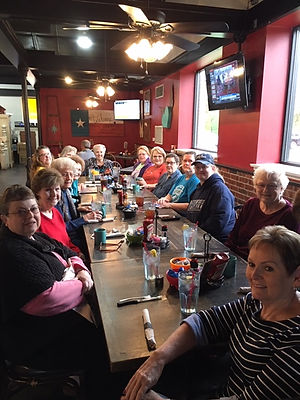 Temple Baptist Ladies enjoying breakfast at Asiel's