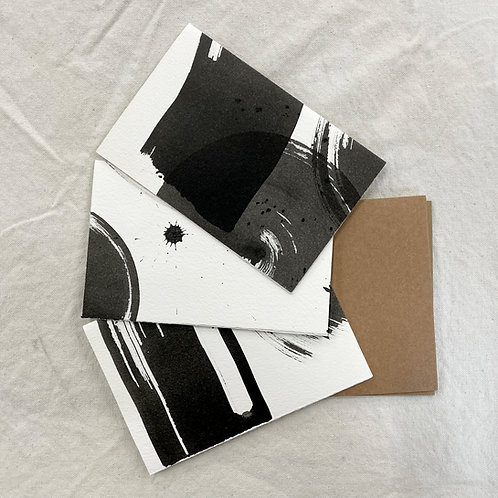 Sumi Ink Cards, 3 pack
