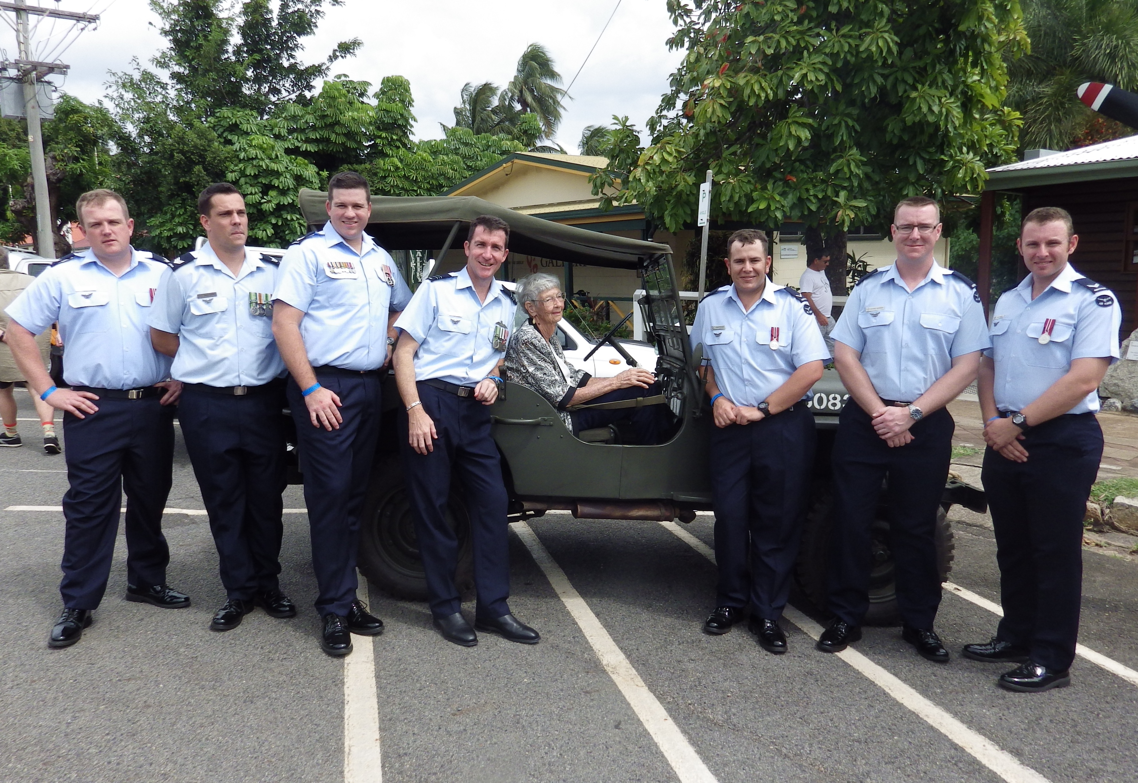Giving Sylvia a lift Cooktown RSL