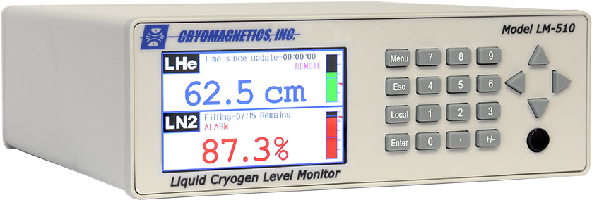 Cryogen Level Monitoring and Control