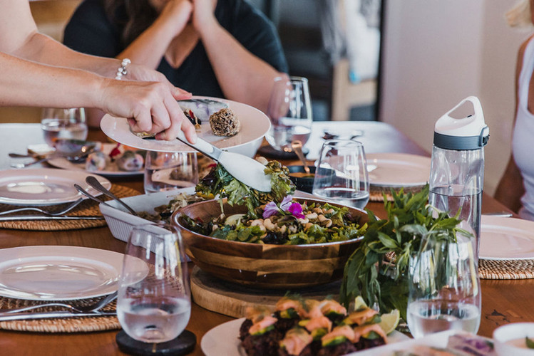 luxury retreat dining