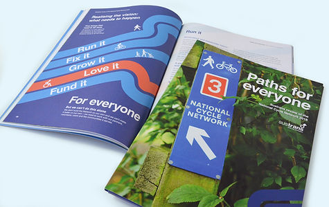 A printed report designed for Sustrans