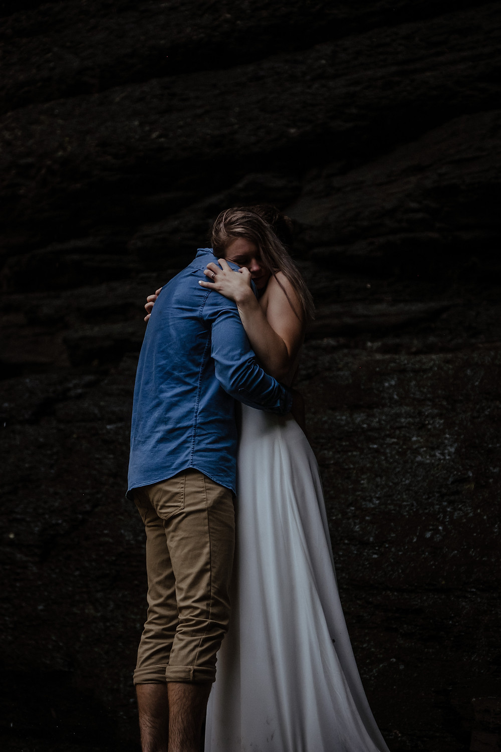Couples session at Cedar Falls at Petit Jean State Park