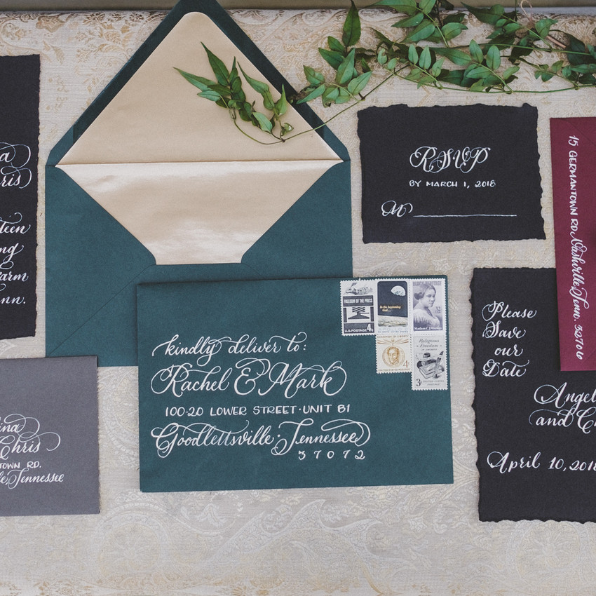 Venue: Drakewood Farm | Florals: Petals & Fields | Calligraphy: White Ink Calligraphy