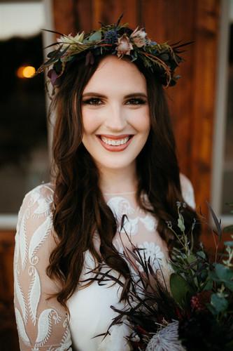 Bridal Portrait of smiling bride