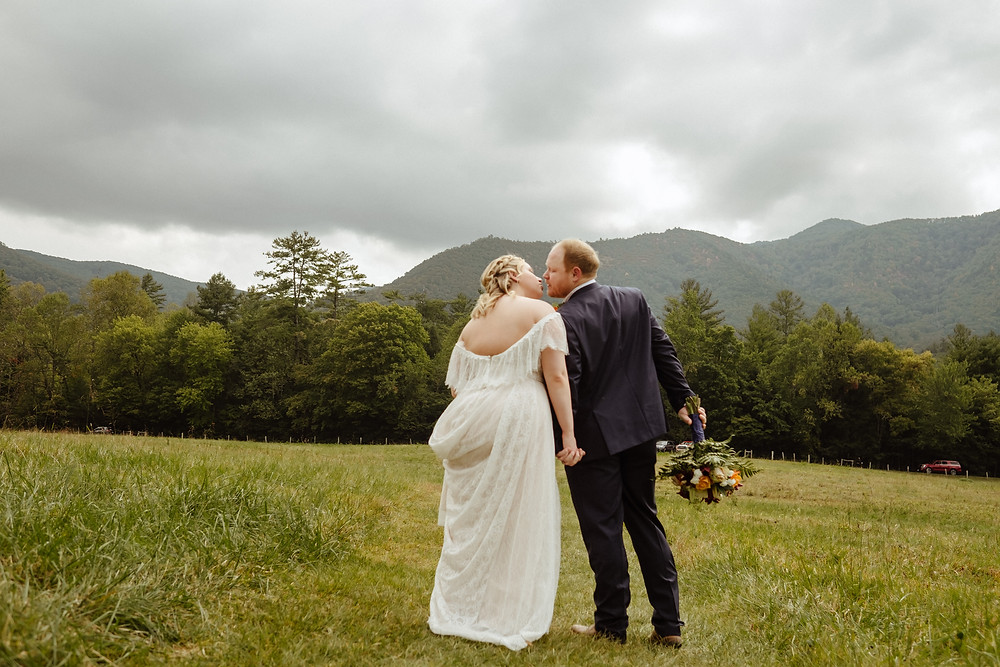 Fall wedding in Cades Cove