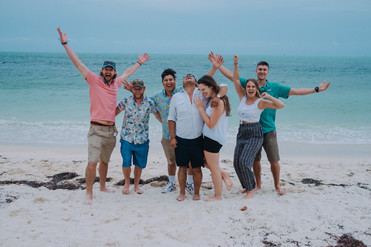 Engagement Group Shot on Fort Zachary Beach