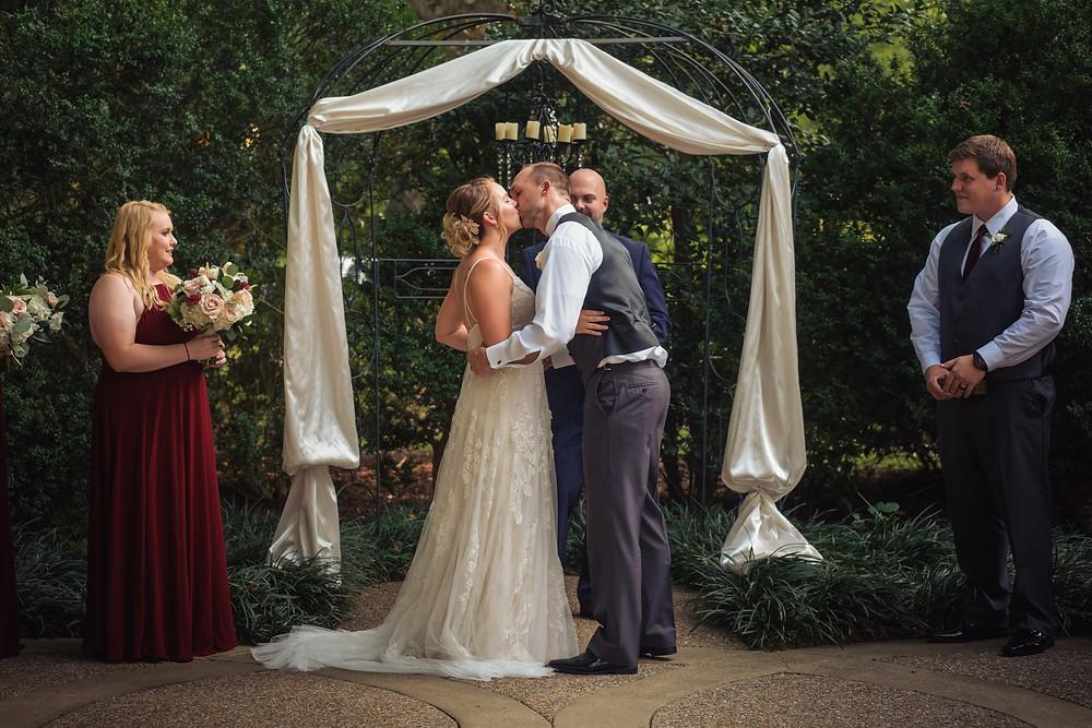 Matthew kisses his new bride