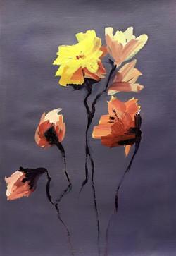 Rose and Fresias
