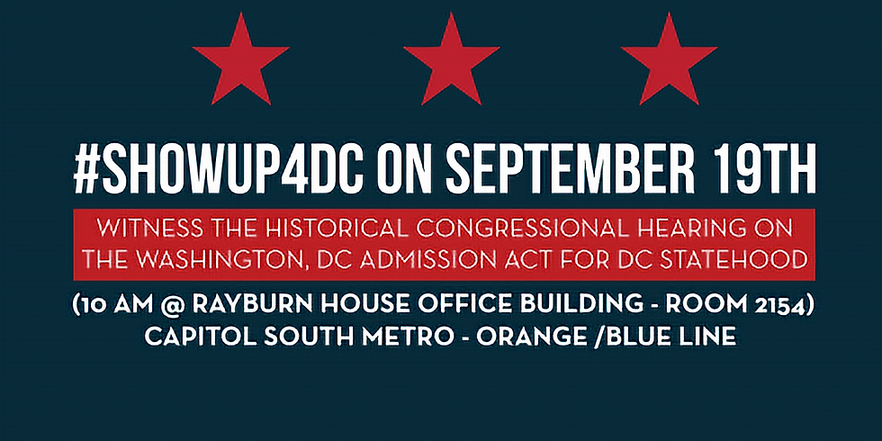 Show up for DC!