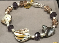 Shell, Asian Cystal Glass  Bracelet
