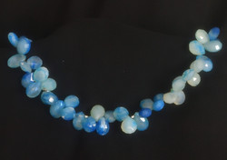 Blue Chalceodny, Sterling Silver