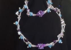 Aquamarine, Amethyst, Pearl