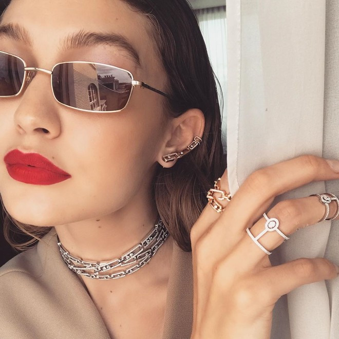 Джиджи Хадид в Messika Jewelry