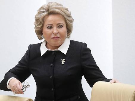 Валентину Матвиенко в третий раз избрали председателем Совета Федерации