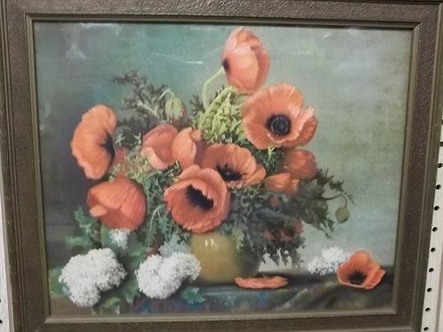 """Fox's Print """"Vase of Poppies"""""""