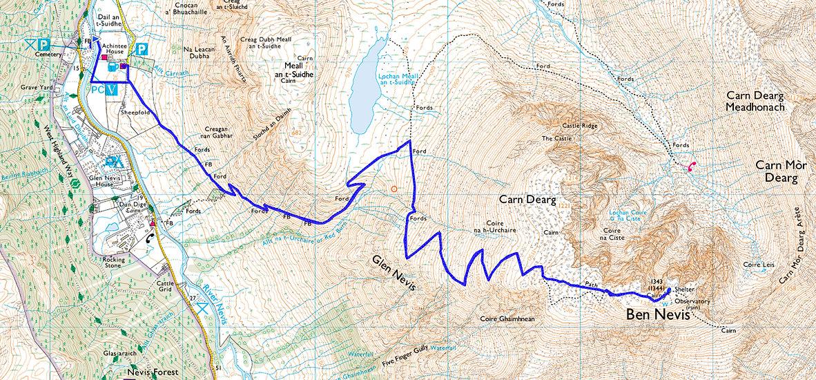 Ben Nevis Trail Route Ordinance Survey.j