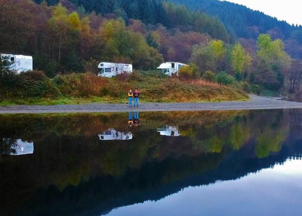 Scotland Loch Lomond Morning Autumn Flat