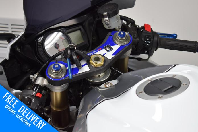 Used Suzuki GSXR600 K8 White for sale northampton bike sanctuary clocks tank.jpg