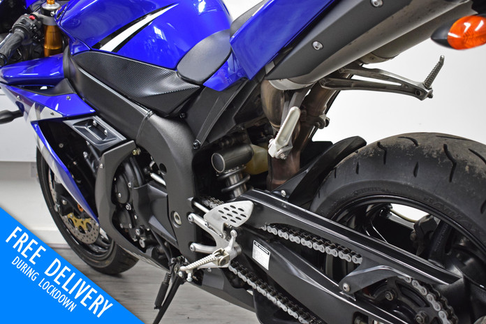 Used Yamaha R1 for sale northampton bike sanctuary blue left rear close.jpg