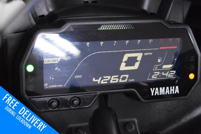 Used Yamaha R125 White Fluro For sale Northampton Bike Sanctuary clocks dash.jpg