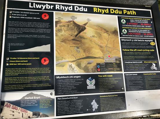 Wales Snowdon trails hiking Llwybr Rhyd