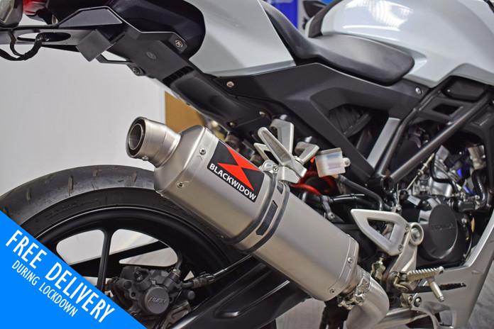 Used Honda CB125R 125 for sale northampton bike sanctuary exhaust.jpg