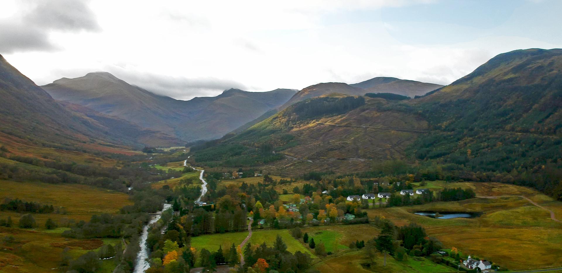 Drone photos of Ben Nevis valley