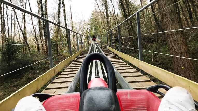 Fforest roller coaster zip world wales r