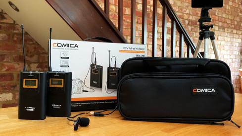 Comica UHF Wireless Lavalier Microphones