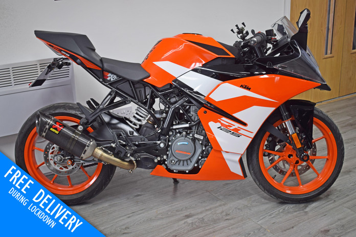 Used KTM RC125 for sale northampton bike