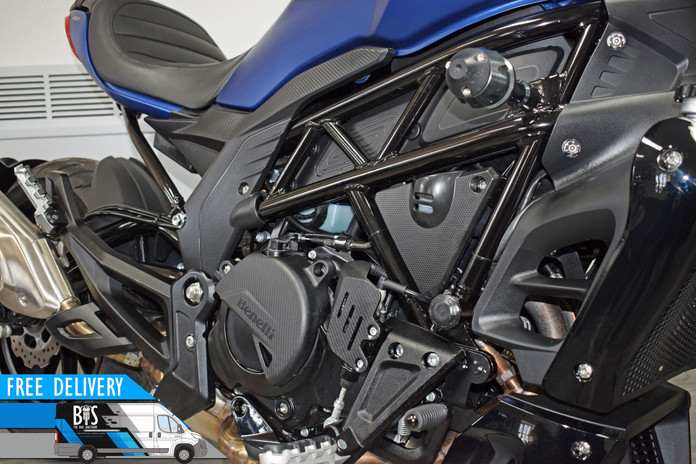 Used benelli 502c city cruiser blue for sale northampton bike sanctuary right side detail_
