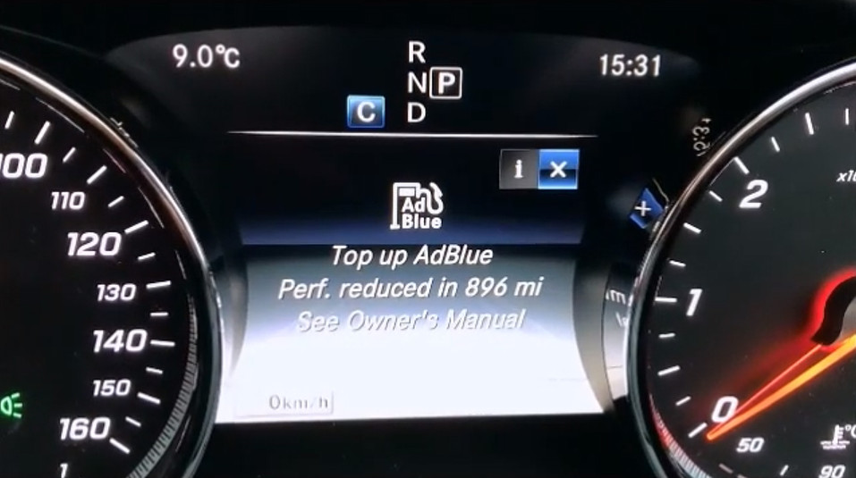 How to top up the AdBlue in a Mercedes-Benz C-Class, E-Class or similar