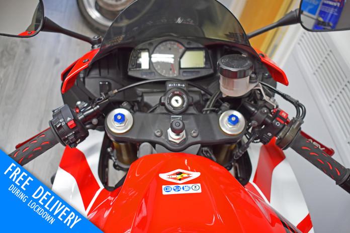 Used Honda CBR600RR for sale Northampton Bike Sanctuary clocks dials tank.jpg