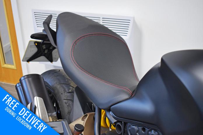Used Ducati Monster 821 Dark Stealth Black Northampton Bike Sanctuary low seat.jpg