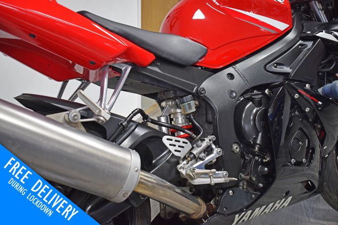 Used Yamaha YZFR6 for sale northampton bike sanctuary right rear close.jpg