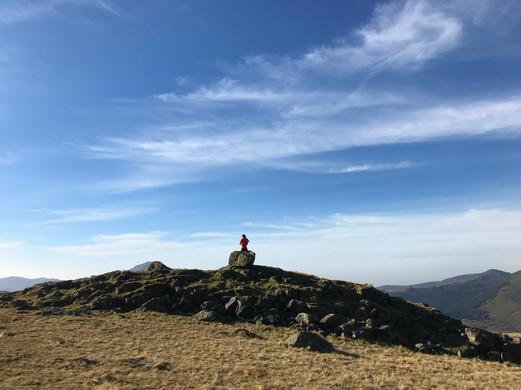 summit of snowdon Llwbr Rhyd Ddu Trail W