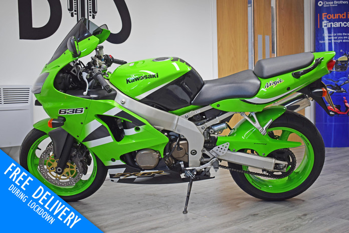 Used Kawasaki ZX6R 636 A1P for sale Nort