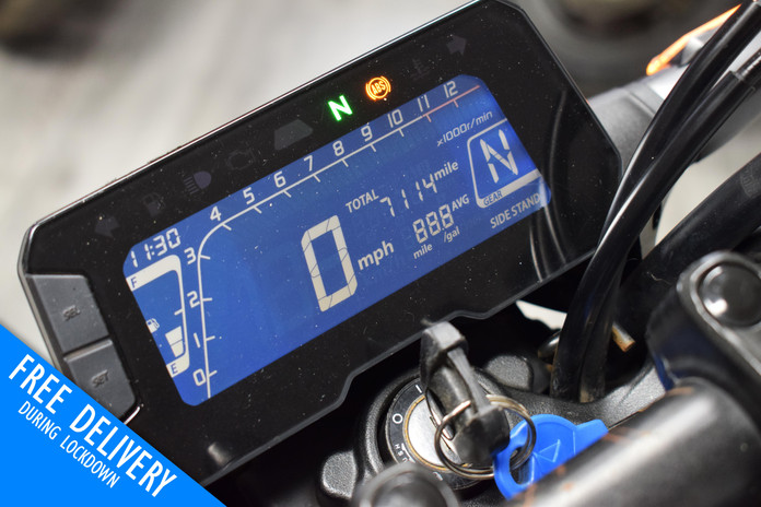 Used Honda CB125R 125 for sale northampton bike sanctuary clocks.jpg