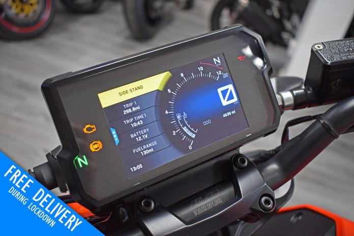 Used KTM Duke 390 for sale northampton bike sanctuary clocks.jpg