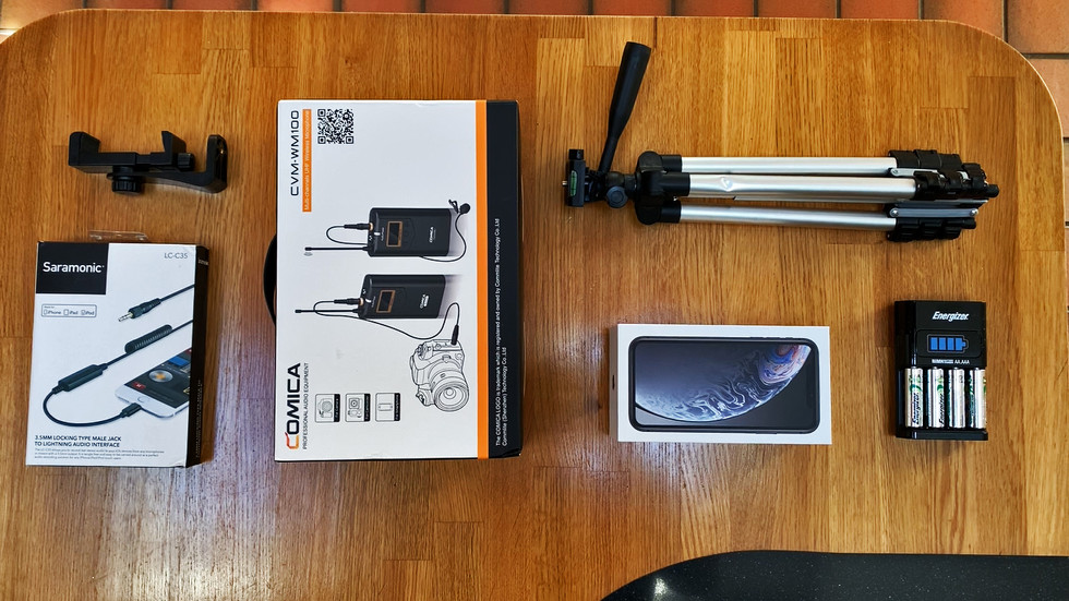 use a wireless lavalier microphone with