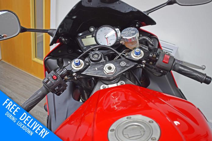 Used Yamaha YZFR6 for sale northampton bike sanctuary clocks tank.jpg