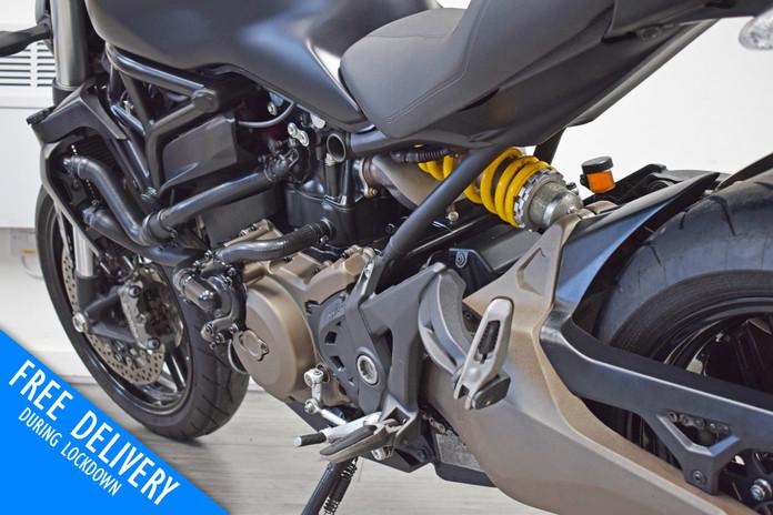 Used Ducati Monster 821 Dark Stealth Black Northampton Bike Sanctuary left rear close.jpg