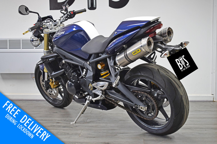 Used Triumph Street Triple 675 Blue for